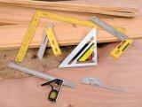 La mano lavora la misura di nastro quadrata di Combition W/Level/OEM di misurazione degli strumenti