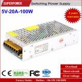 5V 20A 100W Schaltungs-Stromversorgung für LED-Bildschirm