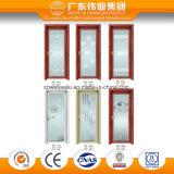 Дверь нормального размера алюминиевая использующ для комнаты ванны с декоративным стеклом