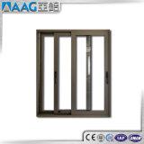 Ventana de desplazamiento de aluminio de cristal doble de la alta calidad
