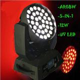 2016 RGBWA 5in1 36X15W LEDの洗浄移動ヘッド