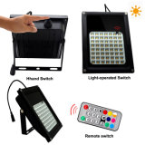 56 LEDs IP65 Waterproof Solar Floodlight Controle Remoto Cor Mudando Garden Landscape Garden Decorative Spotlight