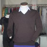 Le pull des hommes mérinos de chandail tricotés par qualité de chandail de cachemire