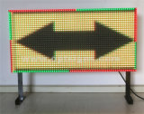 交通安全装置のプログラム可能なメッセージは屋外のLED表示ボードに署名する