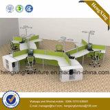 4つのシートのオフィス用家具の木ワークステーションL形の隔壁(NS-NW033)