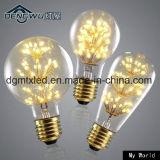 Da luz de vidro transparente do filamento da lâmpada ST48 de Edison do vintage do bulbo E27 2W do diodo emissor de luz de MTX lâmpadas retros AC220V