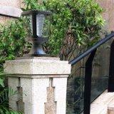 Lumière solaire 1W de pilier de l'horizontal extérieur européen DEL de jardin