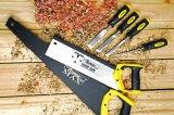 炭素鋼の弓は対処して木工業については3PCS予備の刃が付いている弓のこを見たことを見た
