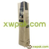 4oz aclaran la bolsa de papel de Kraft con el sello superior de la cremallera