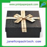Коробка изготовленный на заказ ювелирных изделий коробки подарка бумаги тесемки способа упаковывая