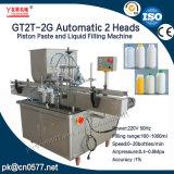 Máquina de rellenar de 2 pistas de la salsa gruesa automática del pistón con la mezcla para la mantequilla de cacahuete (GT2T-2G)