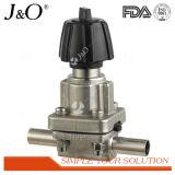 Válvula de diafragma sanitária do aço inoxidável mini com extremidades da solda