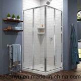 Parede de vidro com chuveiro de vidro com parede personalizada