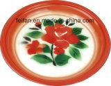 Plateau de thé d'émail/plateau de fruit avec le décor de Colofull