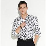 Camisas largas de Oxford de las fundas de la alineada formal de los hombres