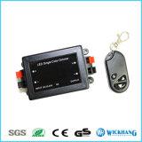 Solo regulador sin hilos DC12-24V 8A del amortiguador del RF de la luz de tira de color del telecontrol LED