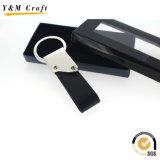 Anello chiave di cuoio personalizzato dell'unità di elaborazione con il marchio (Y03912)