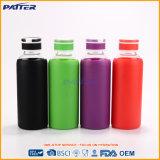 Neues Produkt-kundenspezifische Borosilicat-Silikon-Hülsen-Farben-Glaswasser-Flaschen