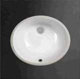 Undermount 반대 수채의 밑에 백색 색깔 17inch 목욕탕 세라믹 물동이
