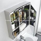 Governo fissato al muro dello specchio della stanza da bagno dell'acciaio inossidabile