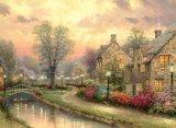 Картина искусствоа холстины хлопка молчком разрешения пейзажа страны ночи высокого изготовленный на заказ