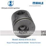 Pistão S6d102 de Mahle para PC200-6 a máquina escavadora 6735-31-2111
