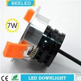 Anuncio publicitario blanco fresco ahuecado Downlight especular del proyecto de 7W Dimmable LED
