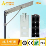5 ans de garantie Integrated Solar Street Light avec Bridgelux LED Chip