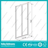 Porta de pivô dobrável de alumínio com vidro laminado temperado (SE919C)