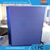 P10 im Freien doppelte seitliche farbenreiche LED Bildschirm bekanntmachend
