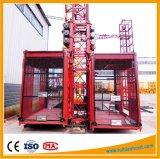 Double élévateur de construction d'élévateur de construction de cage