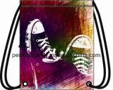 Le cordon de polyester de modèle de mode folâtre le sac de gymnastique de sac à dos