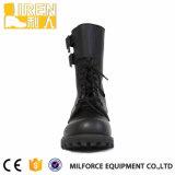 Impermeável bota de combate militar 2014 New Design Preto de couro genuíno