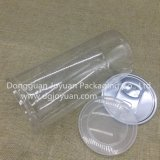 Pet personalizado puede plástico transparente para la galleta con Easy Pen Fin