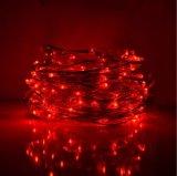 Luz de la cadena del color rojo del LED que contellea para las decoraciones del festival
