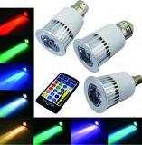 color elegante de la bombilla de 3W 5W 7W 9W E14 E17 LED con teledirigido