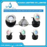 luz subacuática impermeable de acero de la piscina de 316stainless LED (base redonda)