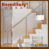 Balaustrada contínua dos trilhos de Rod do corrimão do aço inoxidável para a escadaria (SJ-H5039)