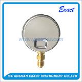 黄銅によってクロム染料で染められる圧力正確に測自然なガスタイプ圧力正確に測空の圧力計