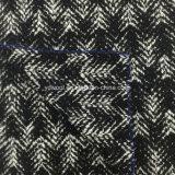 Ткань шерстей жаккарда петли шевронная готовая