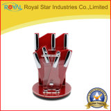 Support acrylique de couteau de tablier d'outil de vaisselle de cuisine de PCS de la place 5
