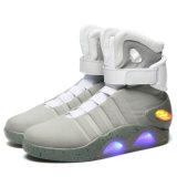Zapatos unisex de la iluminación del OEM del ODM de la manera de los altos del deporte zapatos ligeros superiores superventas del zapato LED