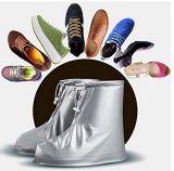 再使用可能な靴カバー雨の防水スリップ防止は唯一の靴カバーを厚くする