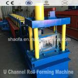 Perfil de la correa de la hoja de metal U que hace el rodillo que forma la máquina