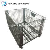 Cage soudée rigide de fil de mémoire pliable par galvanisé