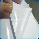 Vinilo auto-adhesivo brillante del pegamento transparente movible