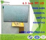"""4.3 """" RGB 40pin Hoge Helderheid 480X272: 400nits het Scherm LCD van de aanraking"""