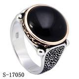 Nueva joyería del anillo de la plata de la llegada con la ágata