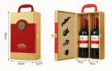 Mehrfache Farbe PU-lederner Luxuxwein-Zahnstangen-Wein-Kasten