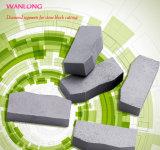 Wanlong 다이아몬드 절단 세그먼트는 를 위한 톱날 절단 돌을